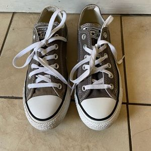 Converse all star women's gray sneakers, size 8